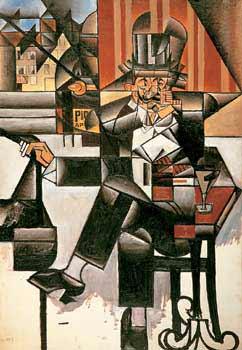Juan Gris - Hombre en el café