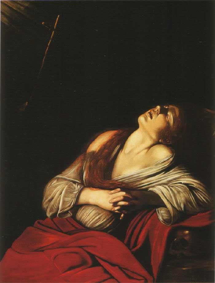Magdalena en extasis de Caravaggio