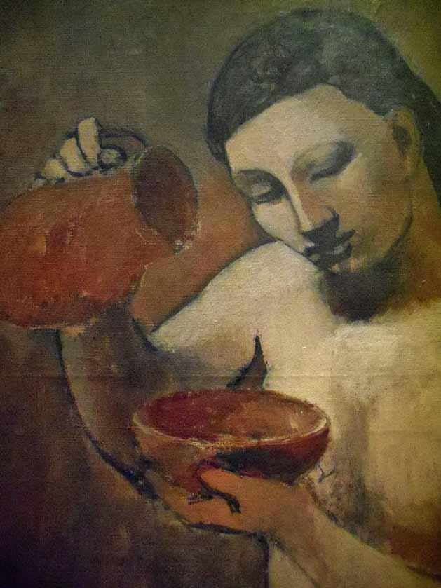 Picasso - Nude with a pitcher deatil summer, 1906, Gósol, Spain. Del mismo periodo que la obra en cuestión.
