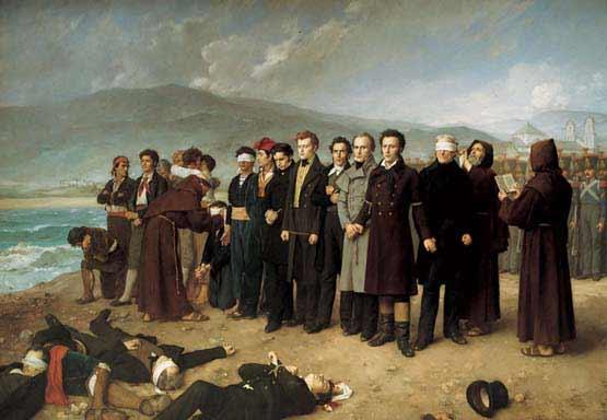 Antonio Gisbert - Fusilamiento de Torrijos y sus compañeros en las playas de Málaga