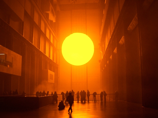 Inner light … The Weather Project (2003) by Olafur Eliasson in the Turbine Hall of the Tate Modern. Photograph: Dan Chung for the Guardian Dan Chung/Guardian