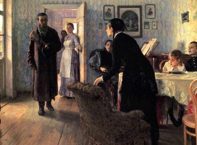 Ilia Repin, Unexpected visitors, 1888