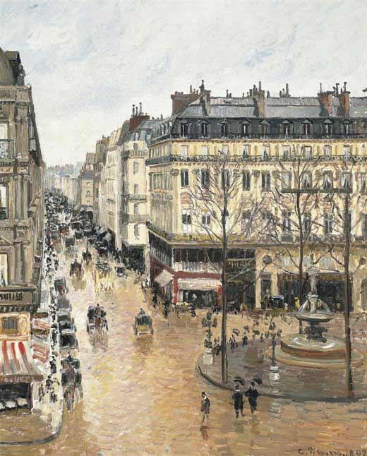 Pisarro-Calle Saint- Honoré después del mediodía. Efecto de lluvia, 1897