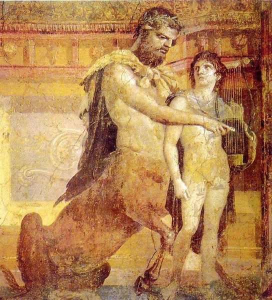 Pompeya - Quiron y Aquiles