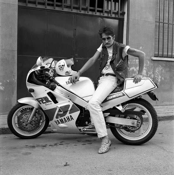 Alberto García Alix - El argentino y su Yamaha 1000 (1989)