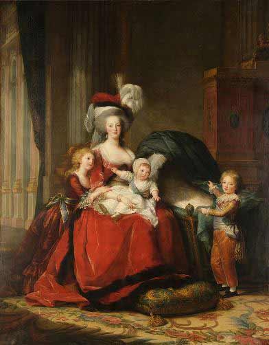 Elisabeth Vigée Lebrun - Retrato de Maria Antonieta