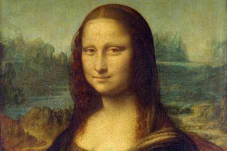 Leonardo da Vinci – La Gioconda, también conocida como La Mona Lisa y Retrato de Lisa Gherardini, esposa de Francesco del Giocondo, 1503 – 1519. Óleo sobre tabla de álamo. 77 x 53 cm. Museo del Louvre, París, Francia.
