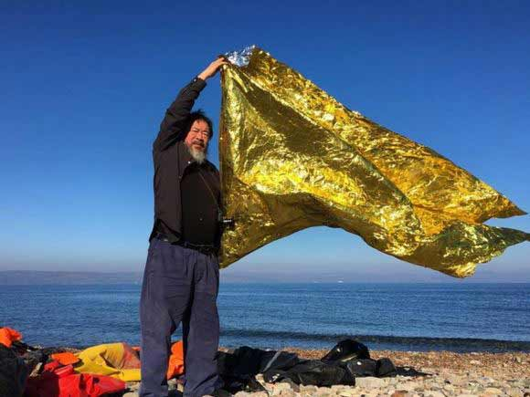 Ai Weiwei en Lesbos