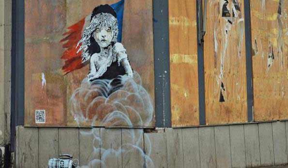 Banksy y su crítica a los refugiados de Calais en Francia