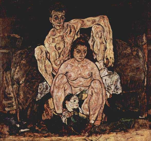 Egon Schiele - La familia, 1918