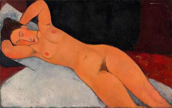 Modigliani - Desnudo, 1917