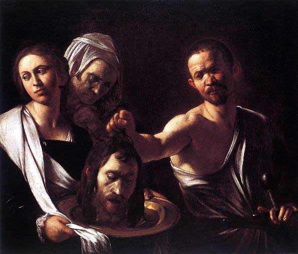 Caravaggio - Salome y la cabeza del bautista