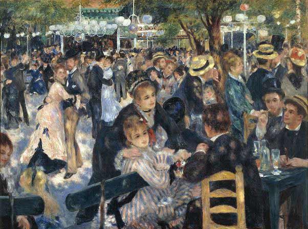 Renoir - Baile en el Moulin de la Galette, 1876