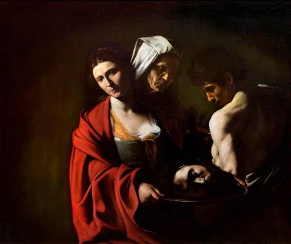 Caravaggio - Salomé con la cabeza del Bautista