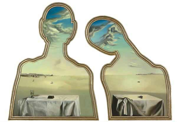 Salvador Dalí - A Couple with their Heads Full of Clouds, 1936