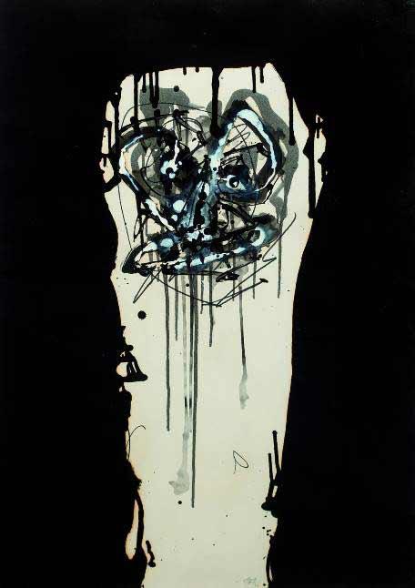 Caso Malaya - Antonio Saura - Retrato imaginario