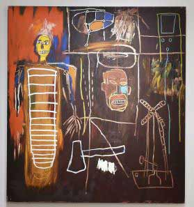 Jean-Michel Basquiat - Air power - Colección de arte de Bowie