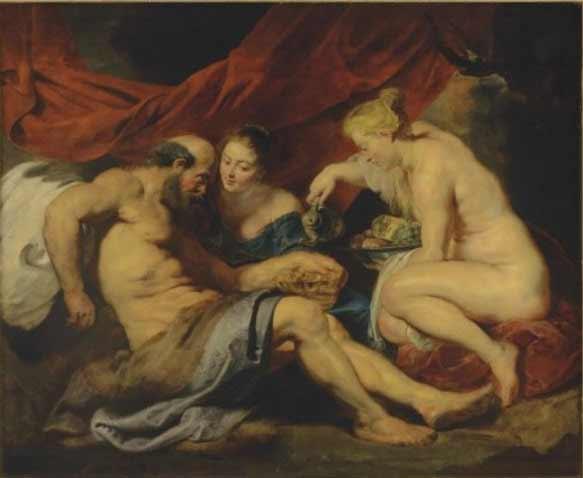 Peter Paul Rubens - Lot y sus hijas