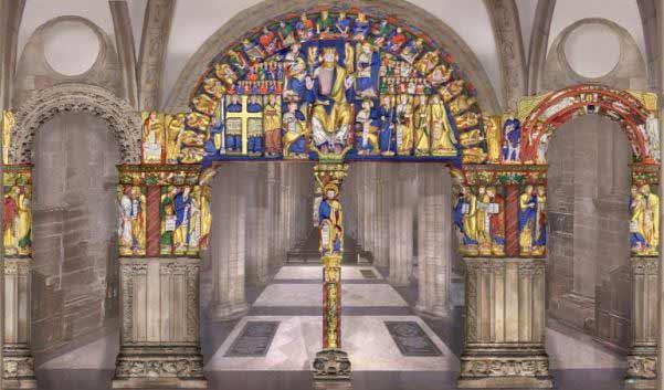 Reconstrucción de las policromías del Pórtico de la Gloria, Catedral de Santiago de Compostela