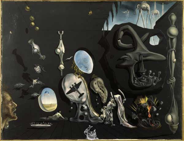 Salvador Dalí - Uranium and Atomica Melancholica Idyll, 1945 - © Salvador Dalí, Fundació Gala-Salvador Dalí, Figueres, 2011