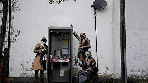 Banksy - The Spy Booth