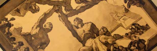 José María Sert - La lección de Salamanca, Salón del Consejo en el Palacio de las Naciones Unidas en Ginebra