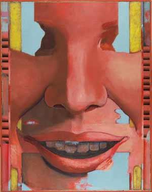 Luis Gordillo - Gran cabeza, 1965