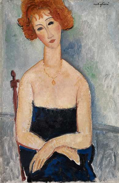 Amedeo Modigliani - La Rousse au pendentif - © Collection Alicia Koplowitz - Grupo Omega Capital Ω