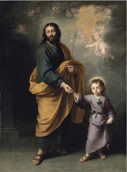 Bartolomé Esteban Murillo - Saint Joseph and the Christ Child
