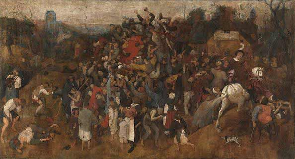 Pieter Brueghel el Viejo - El vino de la fiesta de San Martín