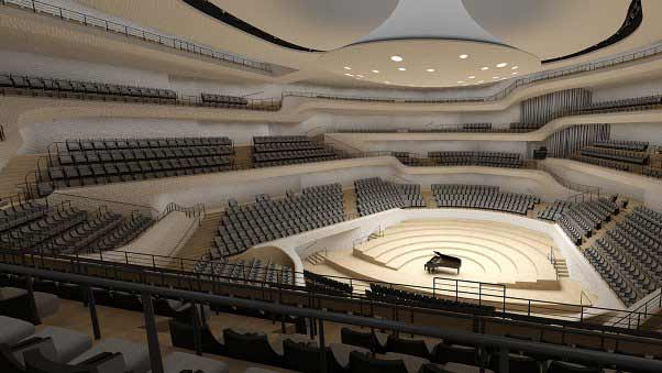 Elbphilharmonie, auditorio del Puerto de Hamburgo, proyecto del estudio de arquitectura Herzog & de Meuron