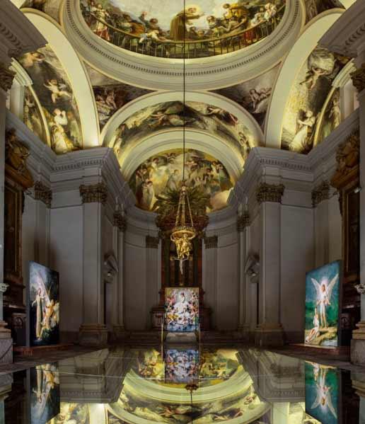 Instalación Ángelas, 2017 en la Ermita de San Antonio de la Florida en Madrid