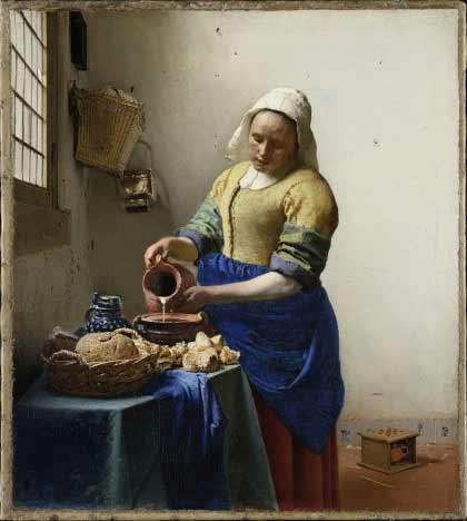 Johannes Vermeer - The Milkmaid, ca. 1657-1658. Oil on canvas. 45.5 x 41 cm. Amsterdam, Rijksmuseum © Amsterdam, The Rijksmuseum