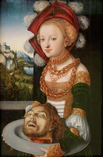 Lucas Cranach El Viejo - Salomé con la cabeza de San Juan Bautista, 1526-1530. Museo de Bellas Artes de Budapest. - Museo Thyssen - Obras maestras de Budapest. Del Renacimiento a las Vanguardias