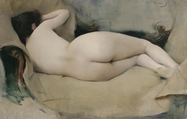 Ramón Casas - Desnudo femenino, 1894