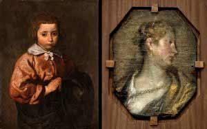 """Diego Velázquez - """"Retrato de un niña o joven Inmaculada"""" y """"Dama de perfil"""""""