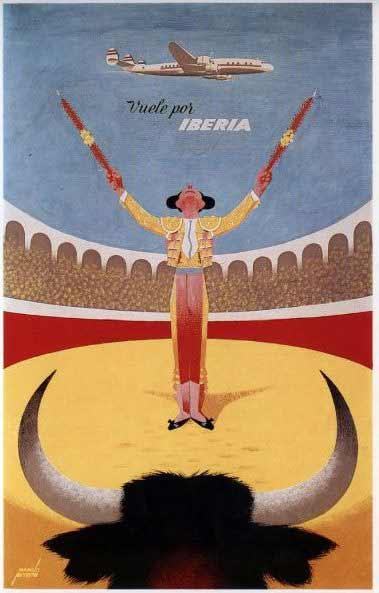 Manolo Prieto - Cartel para las líneas aéreas de Iberia