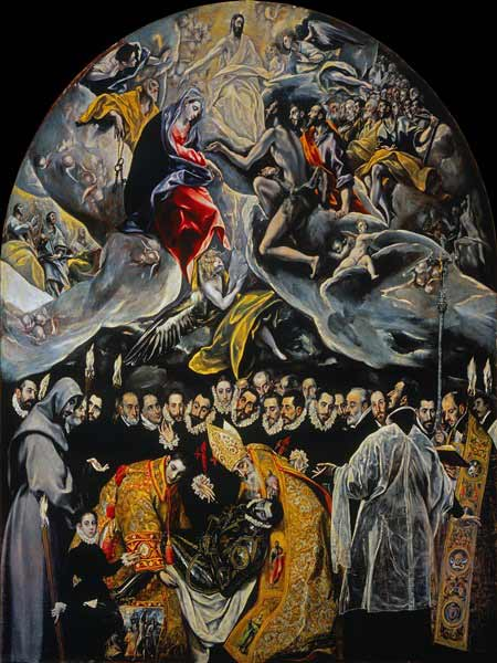 El Greco - El entierro del conde de Orgaz, 1586-88