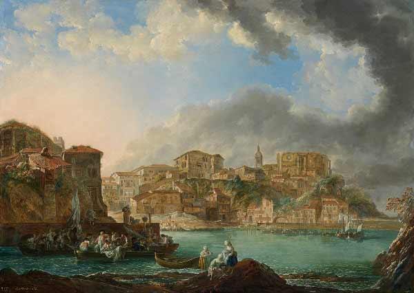 Luis Paret y Alcázar - Vista de Bermeo, 1783