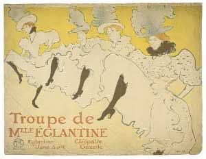 Henri de Toulouse-Lautrec - Troupe de Mlle Églantine, 1896