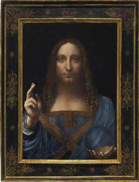 """Leonardo da Vinci - """"Salvator Mundi"""", circa 1500"""