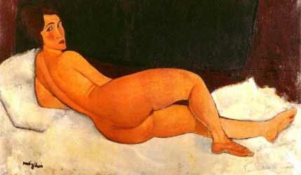 Amedeo Modigliani - Nudo sdraiato sul fianco sinistro, 1917.
