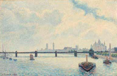 Camille Pissarro - Charing Cross Bridge, London, 1890. National Gallery of Art, Washington, Collection of Mr. And Mrs. Paul Mellon 1985.64.32