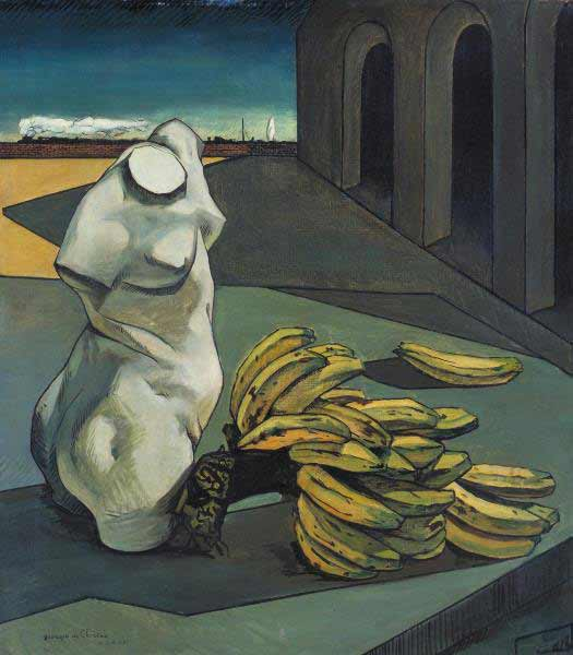 The Uncertainty of the Poet 1913 Giorgio de Chirico 1888-1978 Purchased with assistance from the Art Fund (Eugene Cremetti Fund), the Carroll Donner Bequest, the Friends of the Tate Gallery and members of the public 1985 http://www.tate.org.uk/art/work/T04109