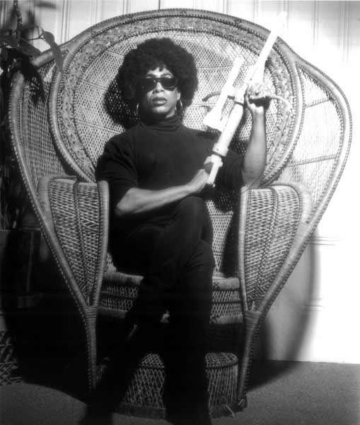 Joan Jett Blakk - Joan Jett Blakk for President, 1992 (Joan Jett Blakk para Presidenta), Póster, firmado por el artista y el fotógrafo. Fotografía de Marc Geller. Cortesía del GLBT Historical Society, San Francisco. Colección CA2M, Móstoles.