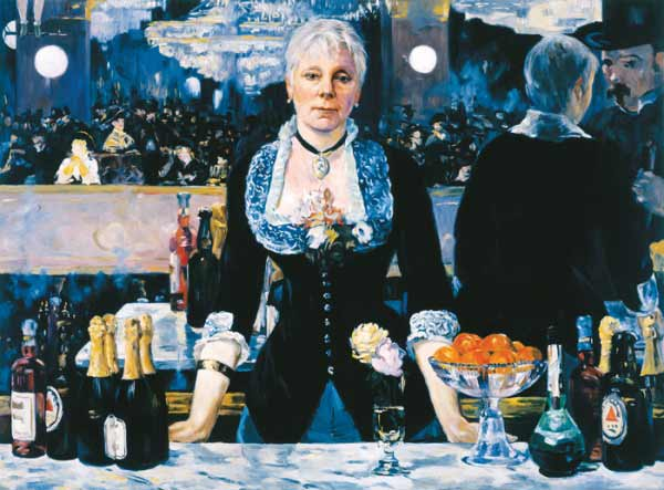 Kathleen Gilje - Linda Nochlin in Manet's Bar at the Folies-Begère, 2005