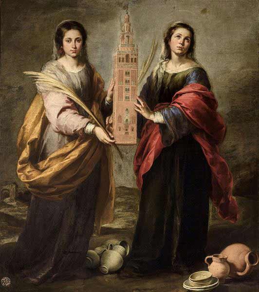 Bartolomé Esteban Murillo - Santa Justa y Santa Rufina, 1666. Museo de Bellas Artes de Sevilla.