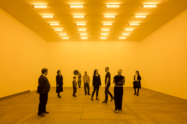 Olafur Eliasson - Room for one color, 1997. Moderna Museet, Stockholm 2015. Photo: Anders Sune Berg