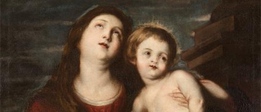 Anton Van Dyck (Amberes 1599-Londres 1641) - La Virgen con el Niño, 1621-22. Detalle. En el Museo Cerralbo.