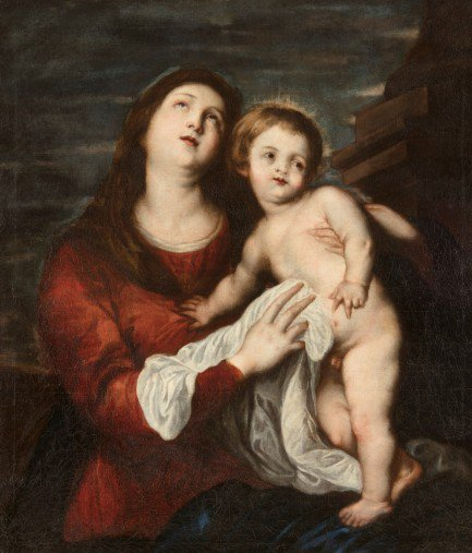 Anton Van Dyck (Amberes 1599-Londres 1641) - La Virgen con el Niño, 1621-22. Óleo sobre lienzo. 98 x 84 cm. Museo Cerralbo, inv. nº VH 0436.